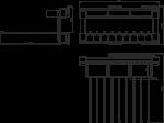 Вешалка GTV для брюк + органайзер боковое крепление W-WSPO100-10