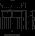 Вешалка GTV для брюк c перегородками W-WSPOP...-10