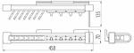 Вешалка GTV для ремней и галстуков W-WKR...002-10