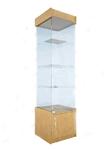 Пенал стеклянный, с дверками, крыша-ДСП (подиум - 500 мм), дверка 448*434*2150