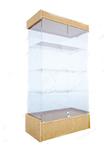 Витрина стеклянная, с дверками, крыша-ДСП (подиум - 300 мм), дверки 850*434*1950