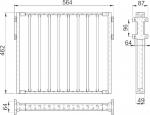 Вешалка GTV для брюк, длина 90 см WW-WSPO900-01